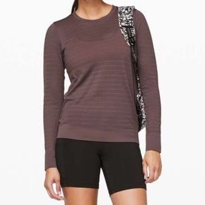 Lululemon Breeze By Long Sleeve Cherry Cola 10
